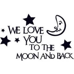 Unique Bargains English Sentences Star Moon Pattern Removable Wall Sticker Wallpaper Decor found on Bargain Bro Philippines from Newegg Canada for $11.44