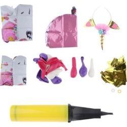 38 Pieces Unicorn Happy Birthday Balloons Banner Headband Set Party Supplier