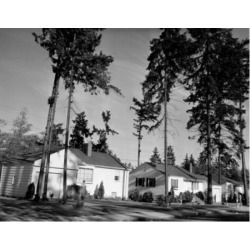 Posterazzi SAL2556770 Children Playing in Front of Houses Wedgwood Seattle Washington USA Poster Print - 18 x 24 in.