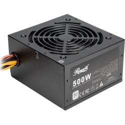 Rosewill RD 500Z 500W Power Supply, 80 PLUS Certified Active PFC Non-Modular Gaming PSU, Single +12V Rail