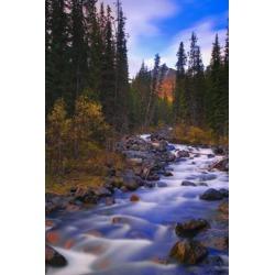 Posterazzi DPI1809509LARGE Moraine Creek Banff National Park Alberta Canada Poster Print by Carson Ganci, 22 x 34 - Large