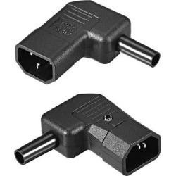 AC110-250V 10A Male IEC320 C14 Power Socket Adapter Receptacle Connector Right Angle 2 Pcs found on Bargain Bro India from Newegg Canada for $11.46