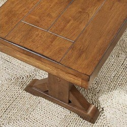 Antique Brown Wood Bench