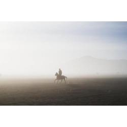 Posterazzi DPI12274086 Man Riding A Horse in The Tengger Sand Sea Bromo Tengger Semeru National Park East Java Indonesia Print - 19 x 12 in.