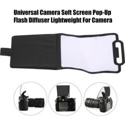 Universal Camera Soft Screen Pop-Up Flash Diffuser Super Lightweight Soft Screen Pop-Up Flash Diffuser For Camera white and black