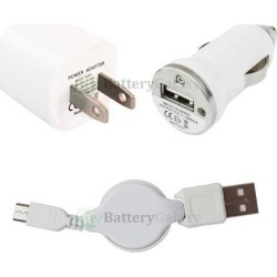 Wall Charger+Car+Micro USB Cable for Android Phone LG G2 G3 G4 K3 K4 K7 K10 V10