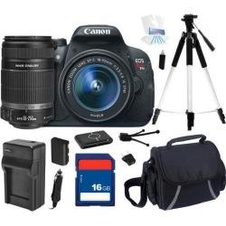 Canon EOS Rebel T5i DSLR Camera with EF-S 18-55mm f/3.5-5.6 IS STM Lens & Canon EF-S 55-250mm f/4-5.6 IS II Lens for Digital SLR Cameras.