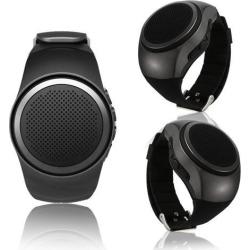 Indigi® Stylish Wrist Smart Watch Bluetooth Headset Handsfree Heart Rate Monitor Pedometer GOLD