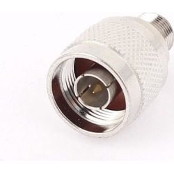 F Type Female To N Type Male Jack Coax RF Connector Antenna Adapter