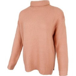 Womens Turtleneck Chunky Knit Sweater Pullover Long Sleeves M Pink