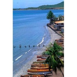 Posterazzi PDDCA33BBA0013 Fishing Boats on Shore St Lucia Poster Print by Bill Bachmann - 19 x 28 in.