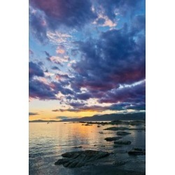 New Zealand South Island Kaikoura South Bay Sunset Poster Print by Rob Tilley (25 x 37)