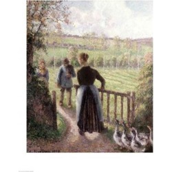 Posterazzi BALBAL76827LARGE The Woman with The Geese 1895 Poster Print by Camille Pissarro - 24 x 36 in. - Large