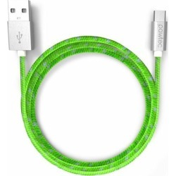 Pawtec Micro USB Charger Cable 3.3ft Nylon Braided Green for Android Samsung