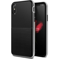 VRS Design [High Pro Shield] Slim Protective Case for iPhone X - Satin Silver/Black