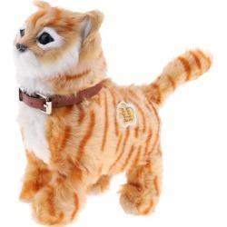 Electronic Plush Cat Toys Stuffed Toys Walking Cat Meow Toys Kids Toy Yellow