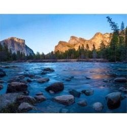 Rocks in The Merced River in the Yosemite Valley Poster Print by Anna Miller (45 x 36)