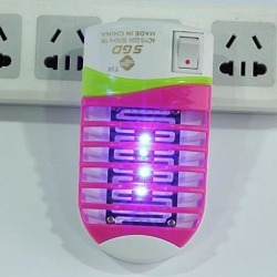 Mini LED Socket Mosquito Fly Bug Insect Trap Night Lamp Killer Zapper