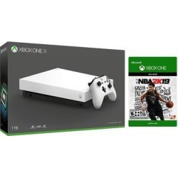 Microsoft Xbox One X 1TB Special White Edition 4K Ultra HD Console - NBA 2K19 Bundle