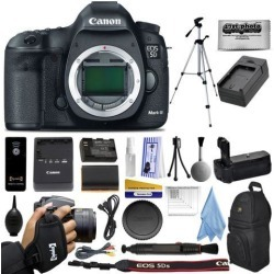 Canon 5D Mark III 22.3MP Full-Frame CMOS Sensor Digital SLR Professional Camera Kit with Full HD 1080p Video Recording at 30 fps + Backpack +.