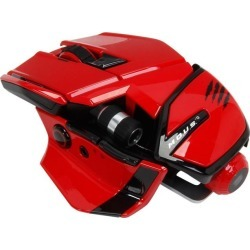 Mad Catz M.O.U.S. 9 MCB437150013/04/1 Red Bluetooth Wireless Laser Gaming Mouse for PC, Mac, and Mobile Devices