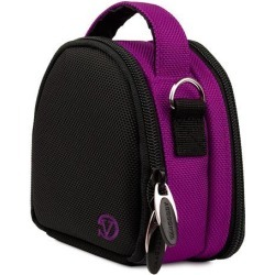 VanGoddy Purple Mini Laurel Camera Case for Digital Cameras with 16 GB SD Memory Card