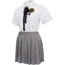 Japanese Style Uniform Sailor Suit Cosplay Costume for School Girls Size M