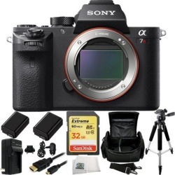 Sony Alpha a7R Mark II a7RII Mirrorless Camera 8PC Bundle. Includes SanDisk 32GB Extreme SDHC Memory Card (SDSDXN-032G-G46) + 2 Replacement FW-50.