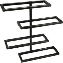 12.25' Dark Gray Modern Tribeca Wall Wine Rack - 4 Bottle Storage