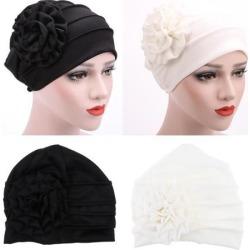 Women's Flower Stretch Turban Hat Hijab Cap Head Wrap Hair Loss Chemo Beanie
