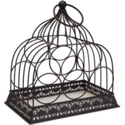 15' Rustic Metal Birdcage 5-Bottle Decorative Wine Rack Holder