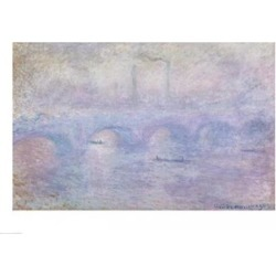 Posterazzi BALBAL37535LARGE Waterloo Bridge - Effect of The Mist 1903 Poster Print by Claude Monet - 36 x 24 in. - Large