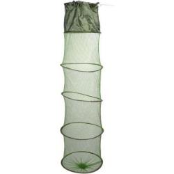 Unique Bargains 44.88' Portable Fishing Landing Net Fish Angler Mesh Keepnet for Fishermen Shrimp Dark Green