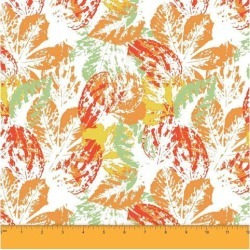 Soimoi Leaf Printed 58 Inches Wide Decorative Dressmaking Cotton Fabric For Sewing By The Meter 60 GSM - Green