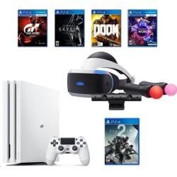 PlayStation 4 Pro Destiny 2 Bundle (6 Items): VR Starter Bundle, PlayStation 4 Pro 1TB Limited Edition Console - Destiny 2 Bundle, 4 Game Discs:.