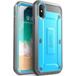 SUPCASE iPhone Xs Case, iPhone X Case [Unicorn Beetle Pro Series] Full-Body Rugged Holster Cover with Built-In Screen Protector for iPhone X 2017 & .