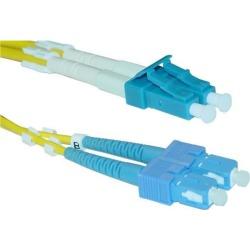Cable Wholesale LC / SC Singlemode Duplex Fiber Optic Cable 9/125 - 3 Meter (10ft)