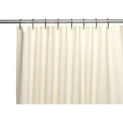Carnation Home Fashions Curtain Living Room Decorative Standard-Sized, 6 Gauge PEVA Liner in Bone