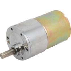 DC 12V 6mm D Shaft Dia 150RPM Round Gear Box Speed Reducing Electric Motor