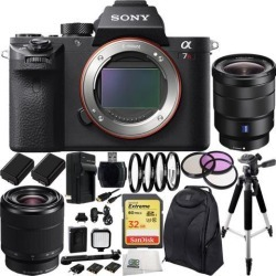 Sony Alpha a7R Mark II a7RII Mirrorless Camera w/ FE 28-70mm f/3.5-5.6 OSS Lens & Sony Vario-Tessar T* FE 16-35mm f/4 ZA OSS Lens 17PC Bundle.