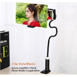 8/12 inch 3D Screen Amplifier Mobile Phone Magnifying Universal 360 Rotating Flexible Long Arm Phone Holder Desk Stand Mobile Phone Bracket