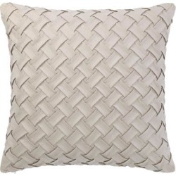 Throw Pillow Cover Stylish Basket Weave Pattern Soft Solid Decorative Pillow Case Home Decor Design Cushion Cover for Sofa Bedroom Car, Beige.