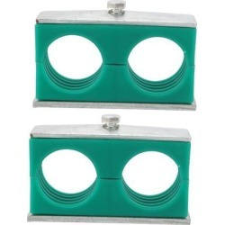 2pcs Twin Series Light Pipe Clamp Assembly Polypropylene Fit 40mm Tube Dia