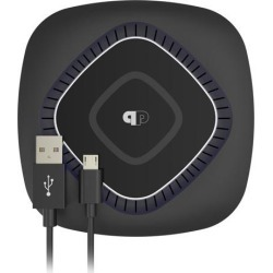 ChargeWAVE Base Qi-Certified Universal 7.5W/10W Fast Wireless Charging Pad with