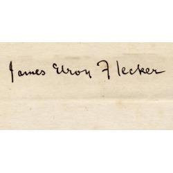 James Elroy Flecker, 1884-1915. Poet. His Signature. Poster Print (21 x 10)