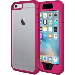 AMZER PINK FULL HYBRID CASE WITH BUILT IN PET SCREEN PROTECTOR FOR IPHONE 6 / 6S