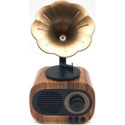 DOBACNER Bluetooth speaker retro wholesale card radio voice wireless smart speaker(Pear pattern)