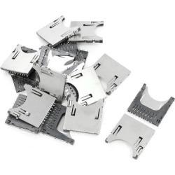 20 Pcs SD Memory Card Sockets Slots Connectors for Digital Camera