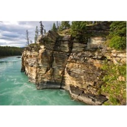 Posterazzi PDDCN01LDI0009 Canada Alberta Jasper National Park Athabasca River Poster Print by Larry Ditto - 26 x 18 in.