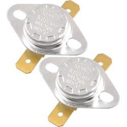 Unique Bargains Unique Bargains 2 Pcs 165 Celsius NC 250V AC 10A Ceramic Thermostats KSD301